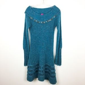 Save The Queen Mohair Wool Sweater Dress S